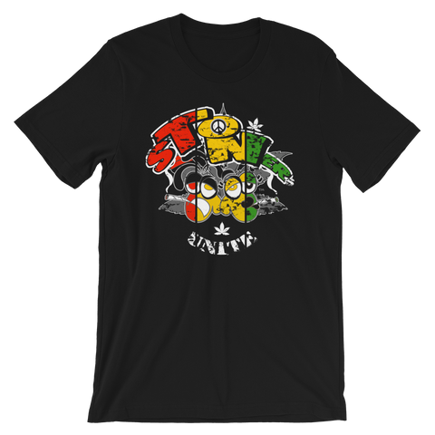 Stoners' Unite Rasta Crew-Neck T-Shirt For Him