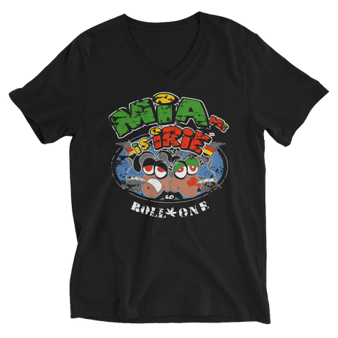 Miami is iRie so Roll OneBoutDatLife V-Neck T-Shirt For Him