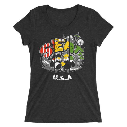 Seattle WA USA Rasta Bout Dat Life T-Shirt For Her