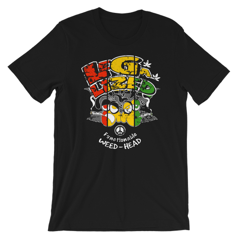 Legalized (FWH) Functional Weed-Head Rasta Bout Dat Life Crew-Neck T-Shirt For Him
