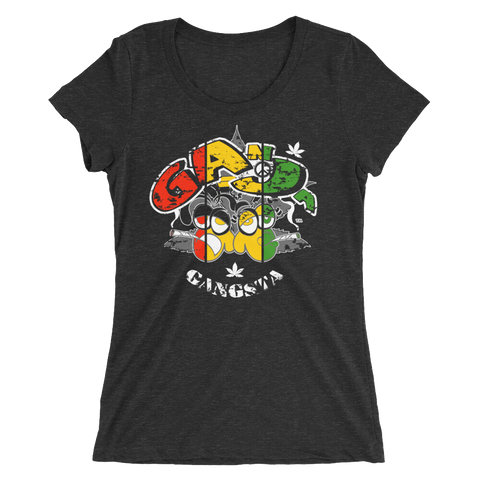 Ganja Gangsta Rasta Bout Dat Life T-Shirt For Her