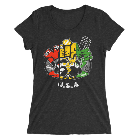 Miami Florida U.S.A Rasta T-Shirt For Her