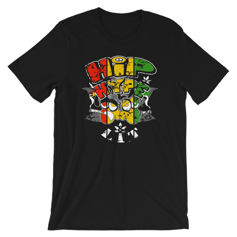 Hip, Hype & Lit Rasta BDL Crew-Neck T-Shirt For Him