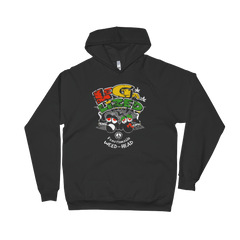 Legalized (FWH) Functionable Weed-Head Blank Face Reggae Unisex Fleece Hoodie
