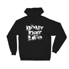 Bout Dat Life Signature Rasta Logo White Text Unisex Fleece Hoodie