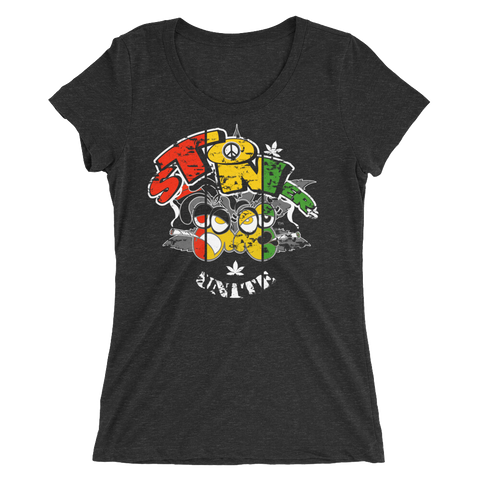 Stoners' Unite Rasta T-Shirt For Her