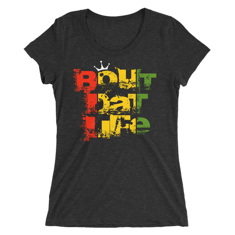 Bout Dat Life Signature Logo Rasta T-Shirt For Her