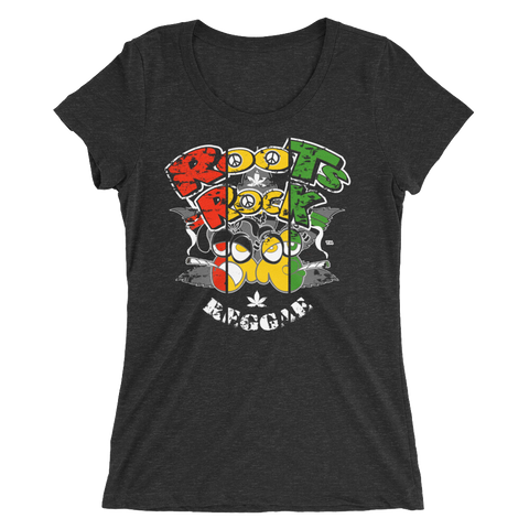 Roots, Rock & Reggae Rasta T-Shirt For Her