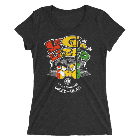 Legalized (FWH) Functionable Weed-Head Rasta T-Shirt For Her