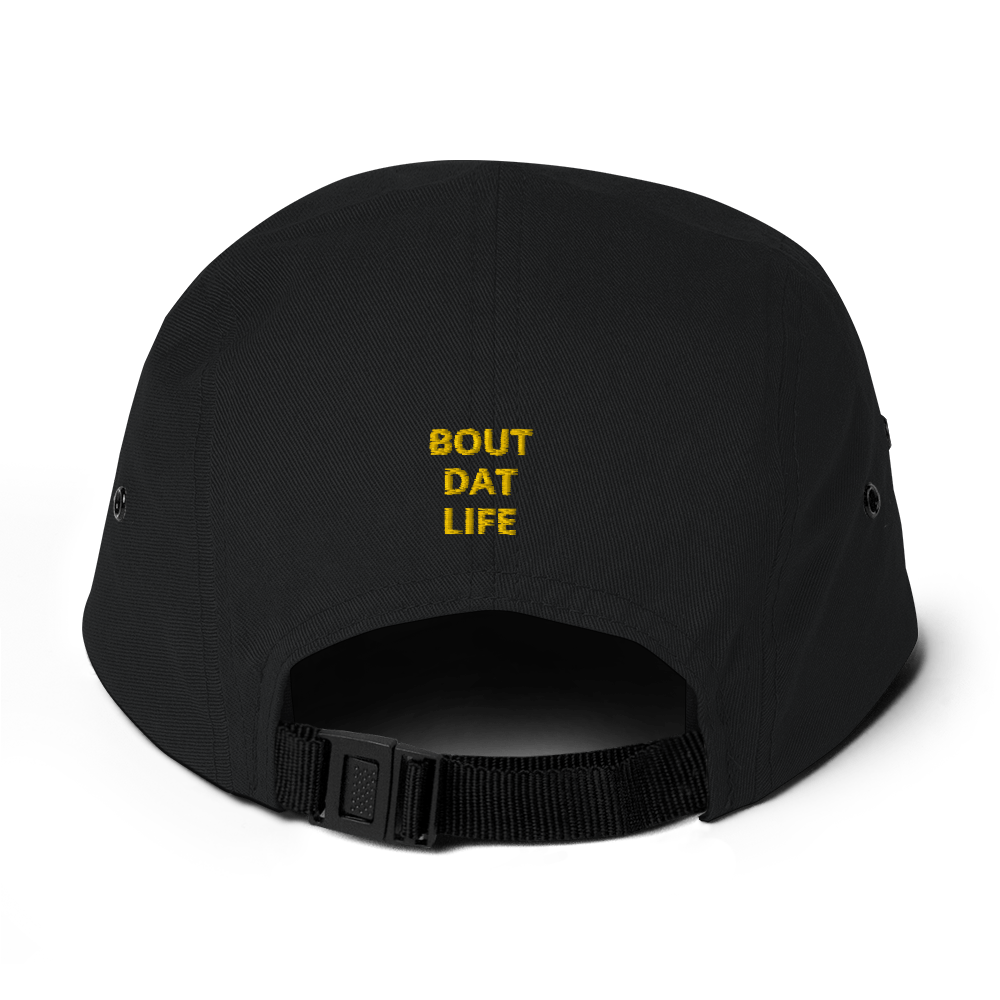 Rasta Gear Club Signature Logo Bout Dat Life (BDL) Text 5 Panel Throwback Cap
