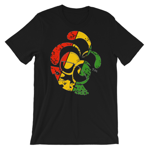 Rasta Kicks Signature Logo Crew-Neck T-Shirt For Him