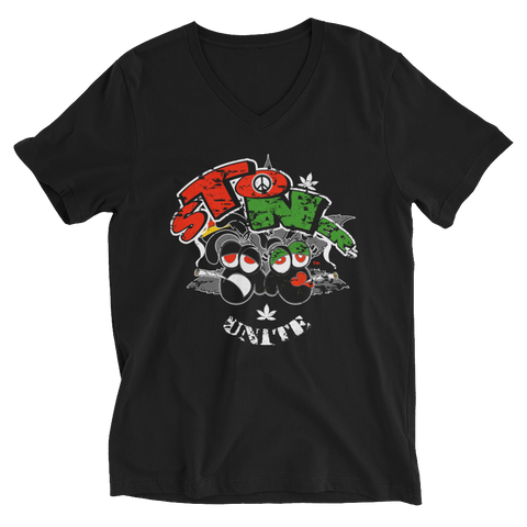 Stoners' Unite Clear Face V-Neck T-Shirt For Him
