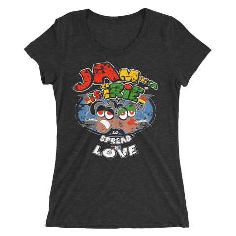 Jamaica Spread The Love  Reggae T-Shirt For Her