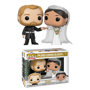 POP ROYALS DUKE & DUCHESS OF SUSSEX 2 PACK VINYL FIGURE