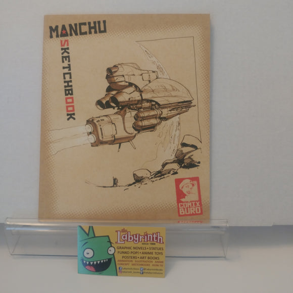 Comix Buro Manchu Vehicle Concept Design Sketch Art Book SIGNED Sketchbook
