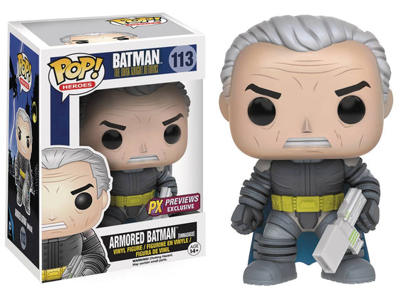 POP DC HEROES DARK KNIGHT RETURNS DKR BATMAN UNMASKED PX VINYL FIGURE