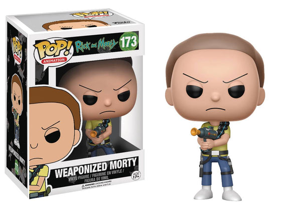 POP ANIMATION RICK & MORTY WEAPONIZED MORTY VINYL FIGURE