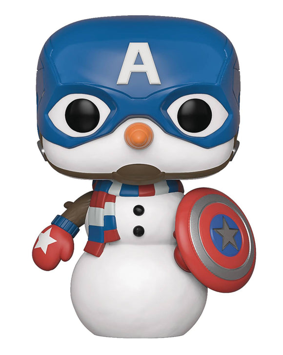 POP MARVEL HOLIDAY CAPT AMERICA VINYL FIGURE