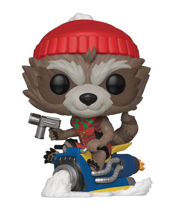 POP MARVEL HOLIDAY ROCKET VINYL FIGURE