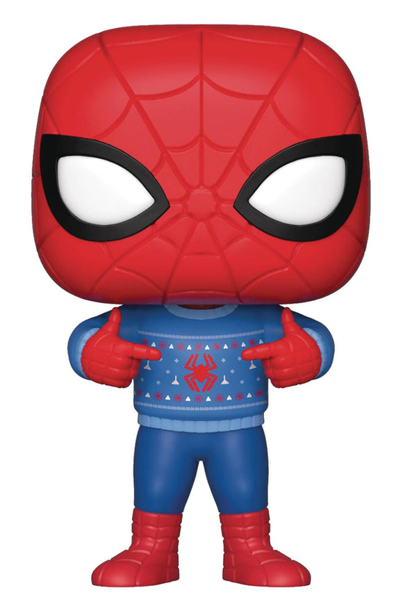 POP MARVEL SPIDER-MAN  UGLY SWEATER VINYL FIGURE