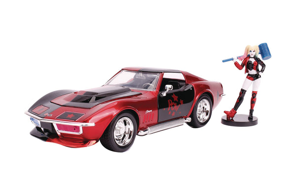 DC 1969 CORVETTE STINGRAY W/HARLEY QUINN 1/24 VEHICLE
