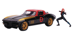 MARVEL 1966 CORVETTE W/BLACK WIDOW 1/24 VEHICLE