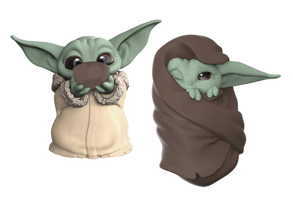 STAR WARS MANDALORIAN BABY YODA BOUNTIES SOUP/BLANKET FIG 2PK