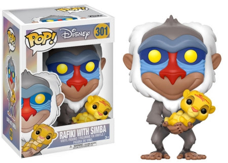 POP DISNEY RAFIKI WITH SIMBA VINYL FIGURE
