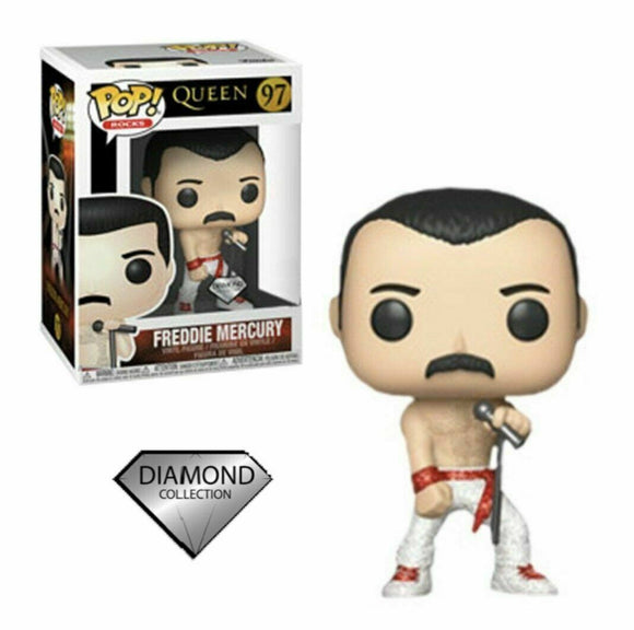 POP ROCKS QUEEN FREDDIE MERCURY DIAMOND VINYL FIGURE