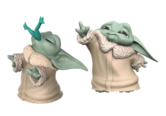 STAR WARS MANDALORIAN BABY YODA BOUNTIES FROG/FORCE FIG 2PK