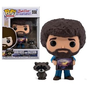 POP BOB ROSS AND RACCOON VINYL FIGURE