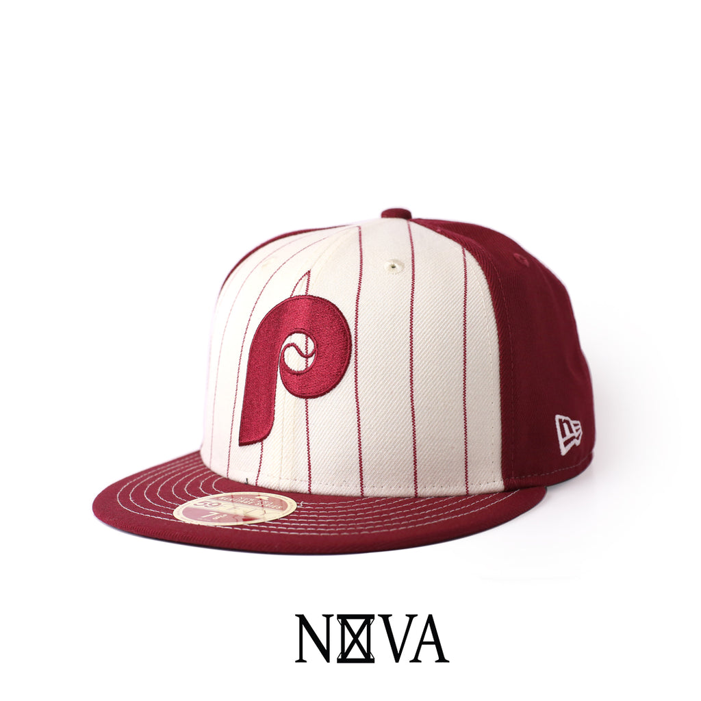 Philadelphia Phillies Heritage Series Cardinal Red/White 59Fifty Fitted