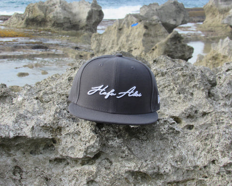 Hafa Adai Script New Era Fifty Snapback Graphite/White