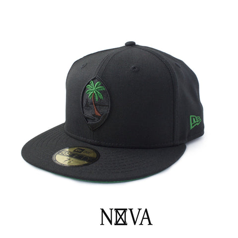 Guam Seal 59Fifty Fitted Black/Kelly Green