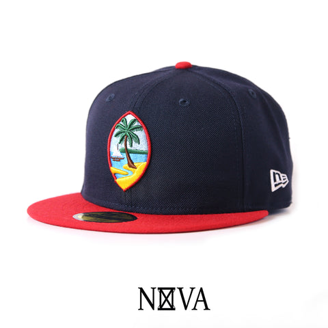 Guam Seal 59Fifty Fitted Navy/Red