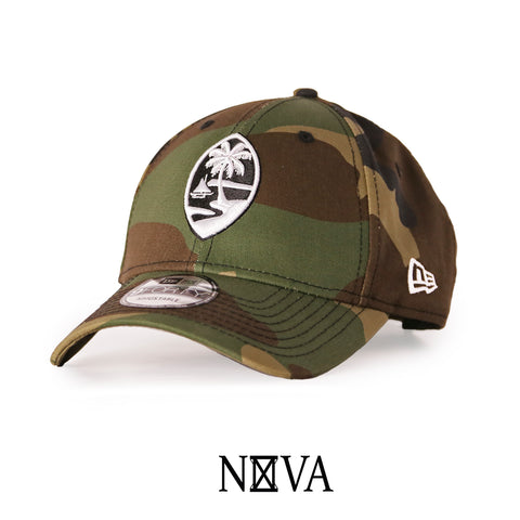 Guam Seal 9Forty Strapback Camouflage with White & Black Seal
