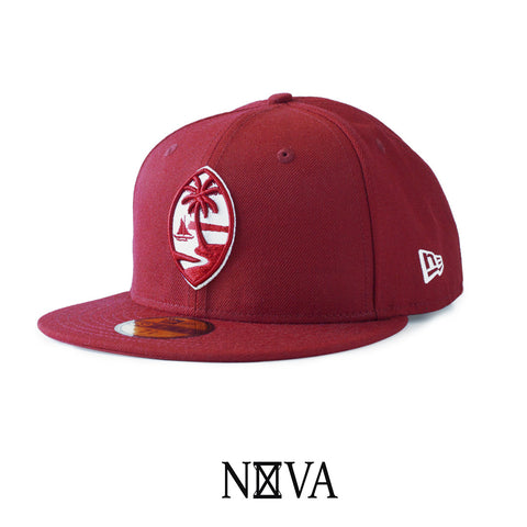 Guam Seal 59Fifty Fitted Cardinal Red/White