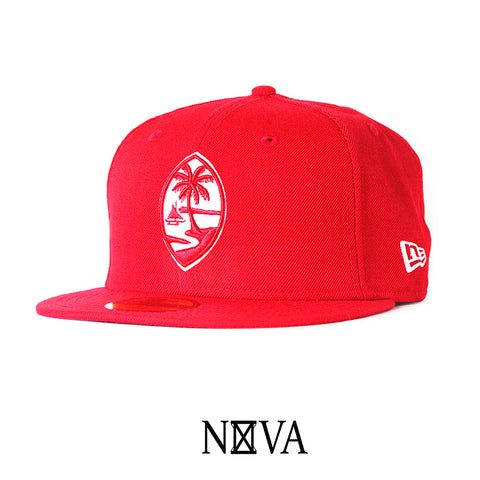Guam Seal 59Fifty Fitted Red/White