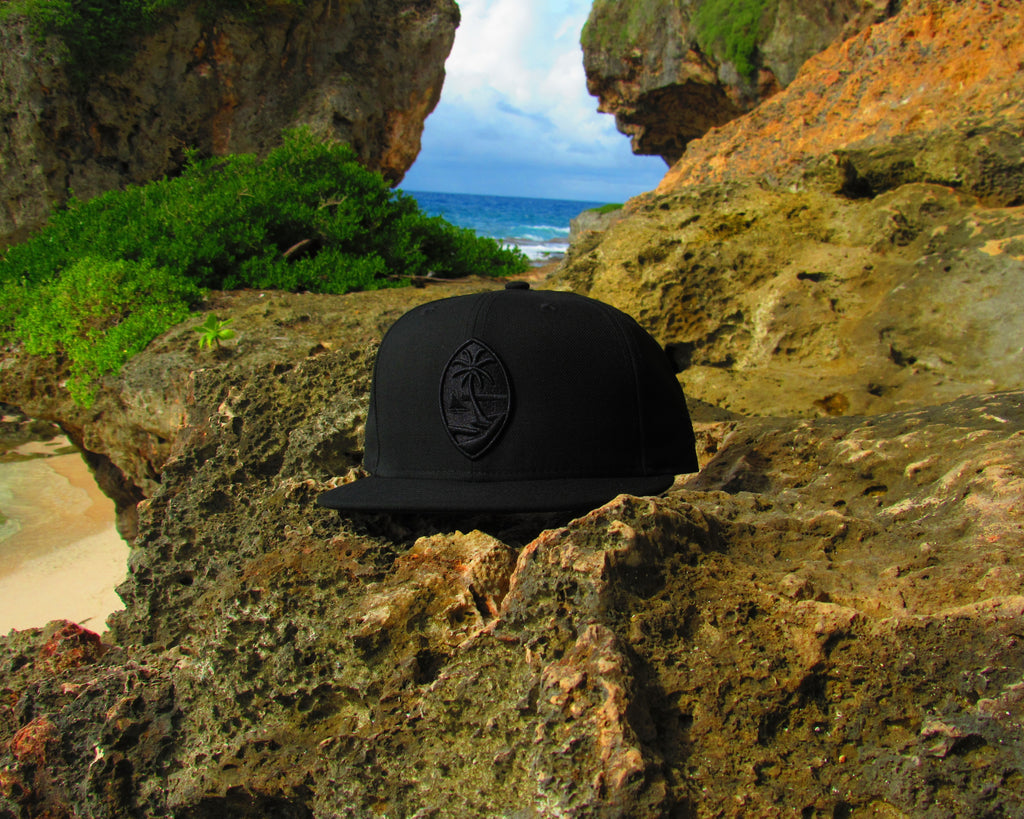Guam Seal New Era 9Fifty Snapback Black on Black