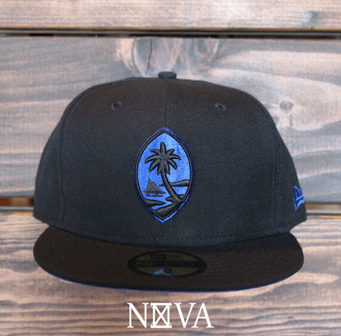 Classic Guam Seal 59Fifty Fitted Black/Royal