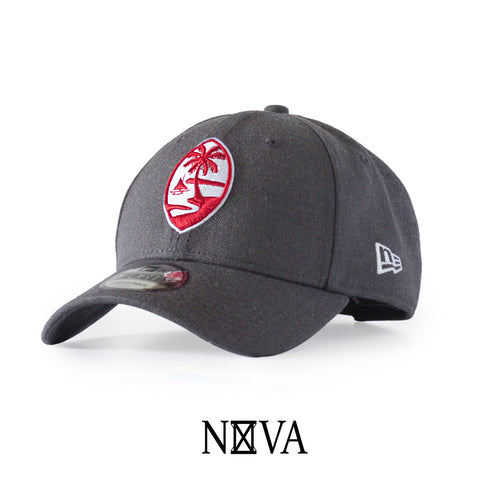 Guam Seal 9Forty Strapback Heather Graphite/Red/White