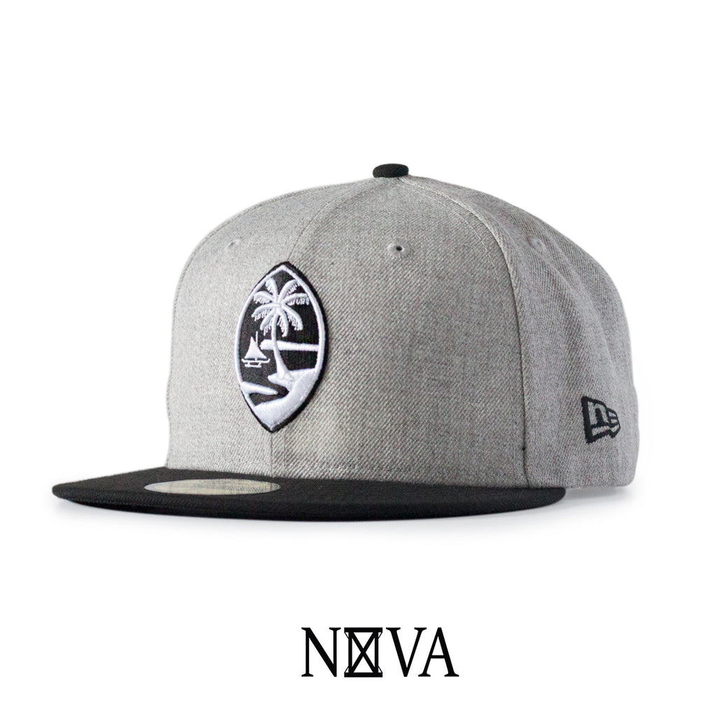 Guam Seal 59Fifty Fitted Heather Grey/Black