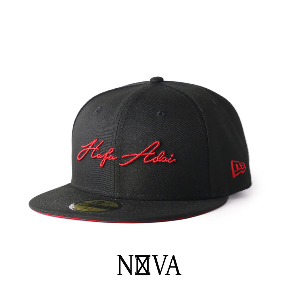 Hafa Adai Script 59Fifty Fitted Black/Red