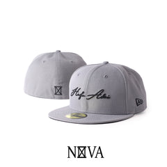 Hafa Adai Script 59Fifty Fitted Storm Grey/Black