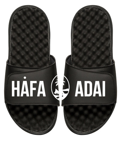 Hafa Adai Guam Seal Slides Black