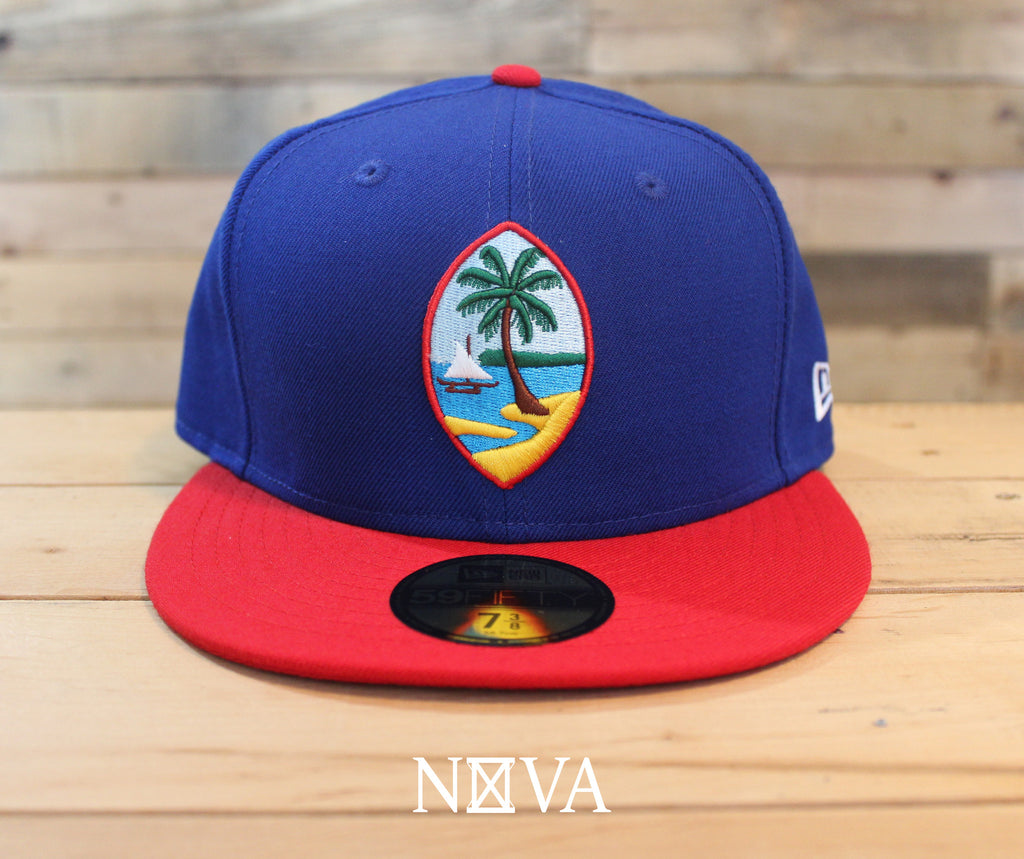 Guam Seal 59Fifty Fitted Royal/Scarlet
