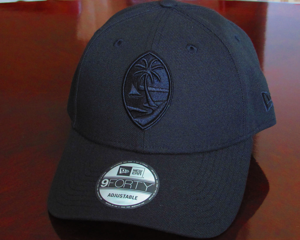 Guam Seal New Era 9Forty Strapback Black on Black