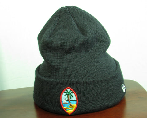 Guam Seal Navy Blue New Era Knit Beanie