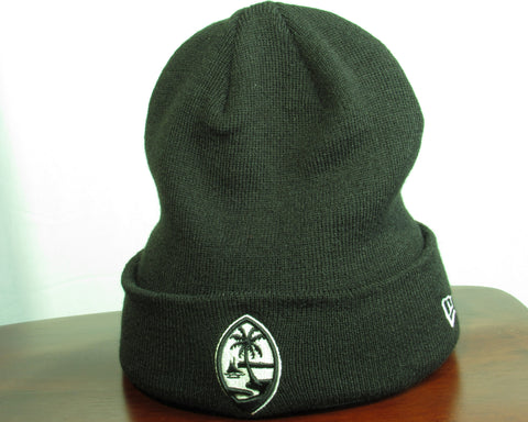 Guam Seal New Era Knit Beanie Black/White