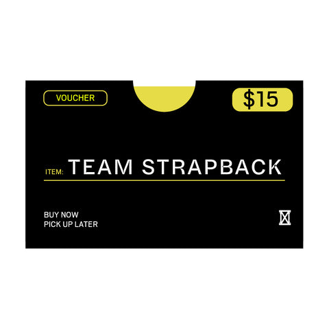 (MUST BE REDEEMED AT STORE)  Team Strapback Voucher Buy Now, Pick up Later *REFER TO DESCRIPTION